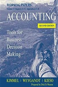 eBook Accounting, Working Papers, Volume 1: Tools for Business Decision Making ePub