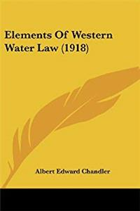 eBook Elements Of Western Water Law (1918) ePub