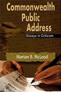 eBook Commonwealth Public Address: Essays in Criticism ePub